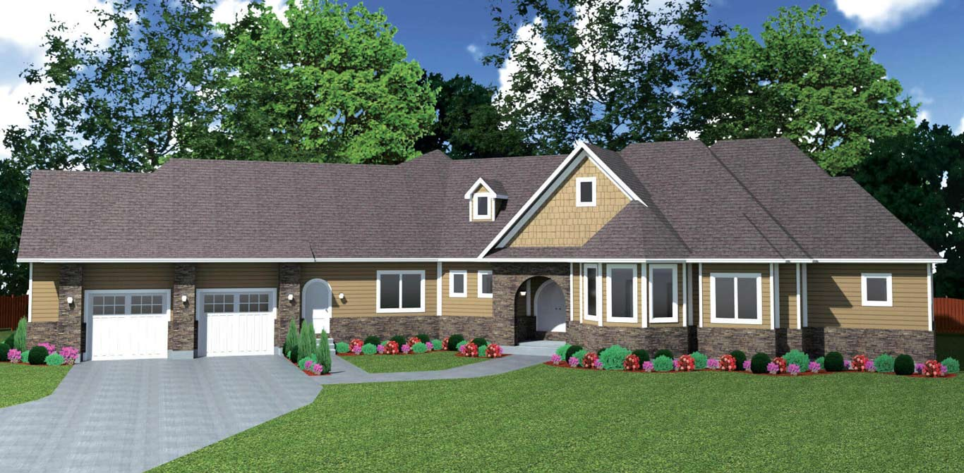 3110 sq.ft. timber mart house 3 bed 2.5 bath exterior render