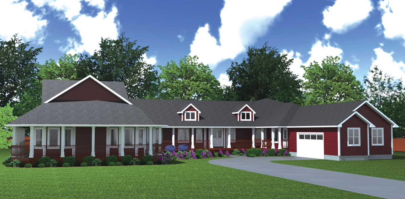 3170 sq.ft. timber mart house exterior render