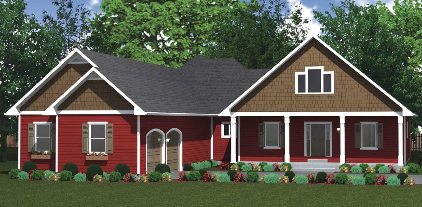 3186 sq.ft. timber mart house exterior render