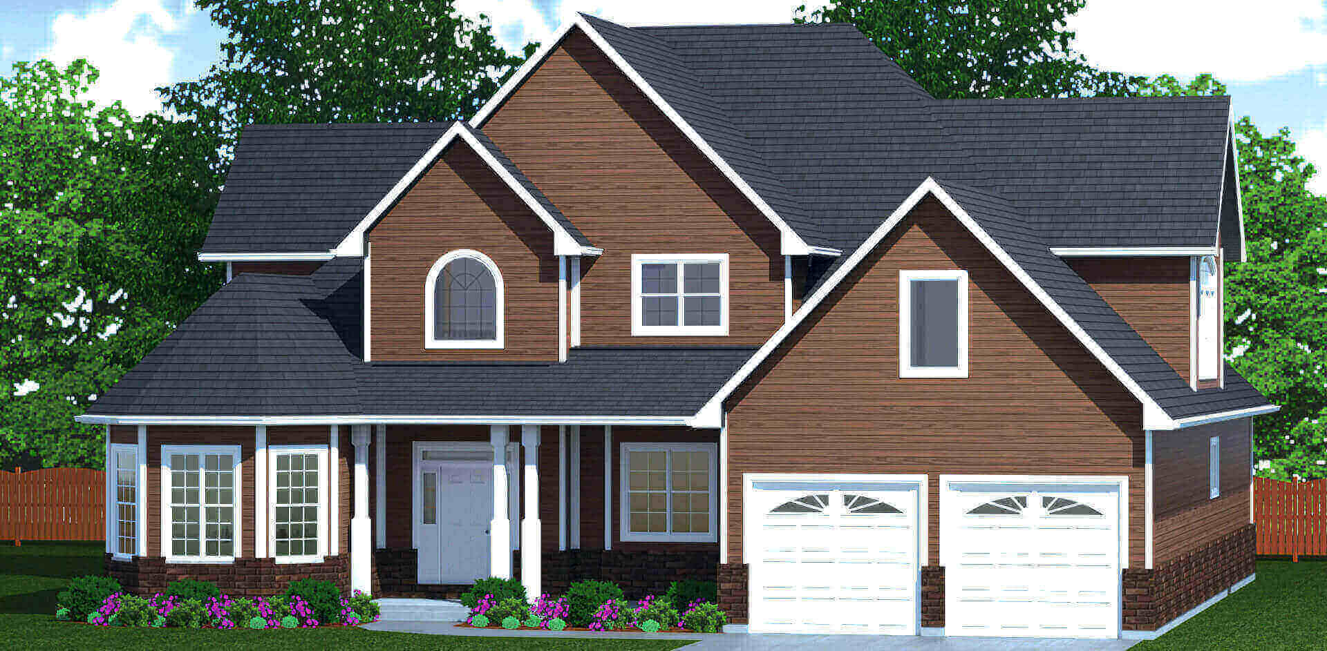 3220 sq.ft. timber mart house 4 bed 3 bath exterior rendering