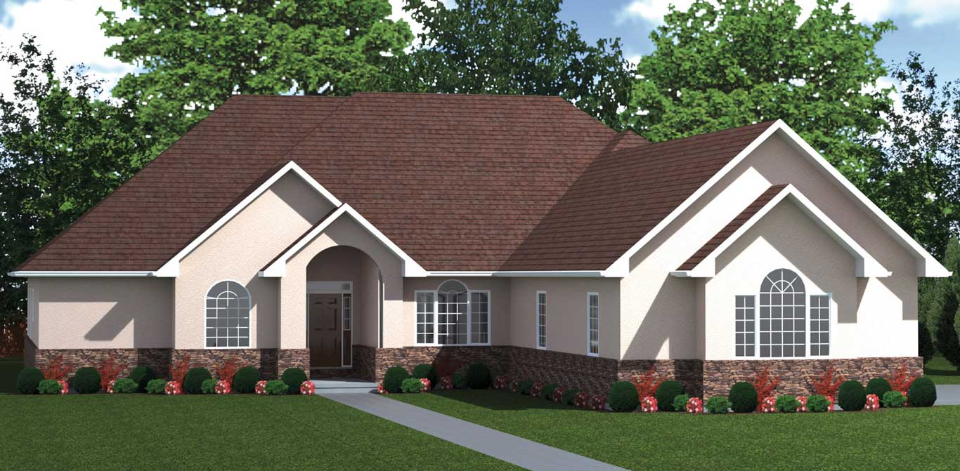 3258 sq.ft. timber mart house 4 bed 3.5 bath exterior rendering