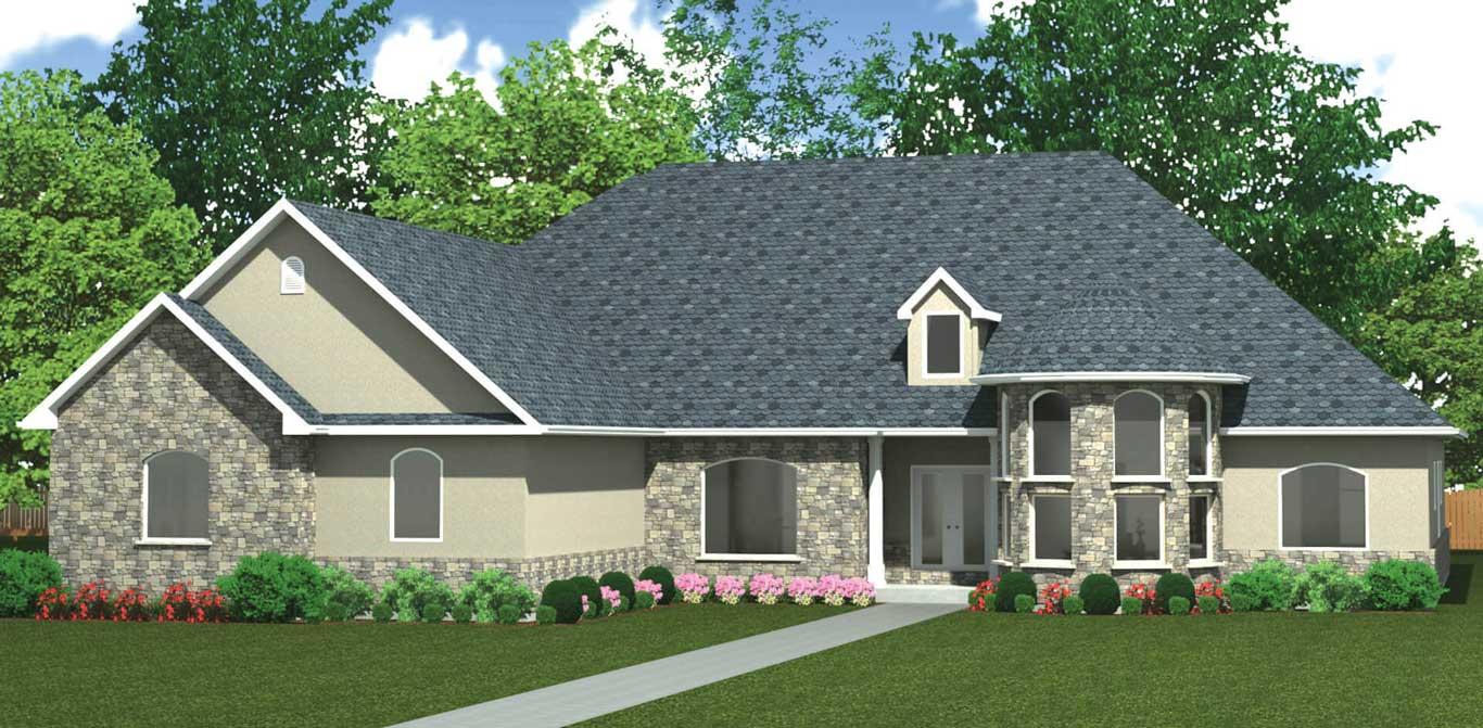 3315 sq.ft. timber mart house 4 bedroom 3 bathroom exterior rendering