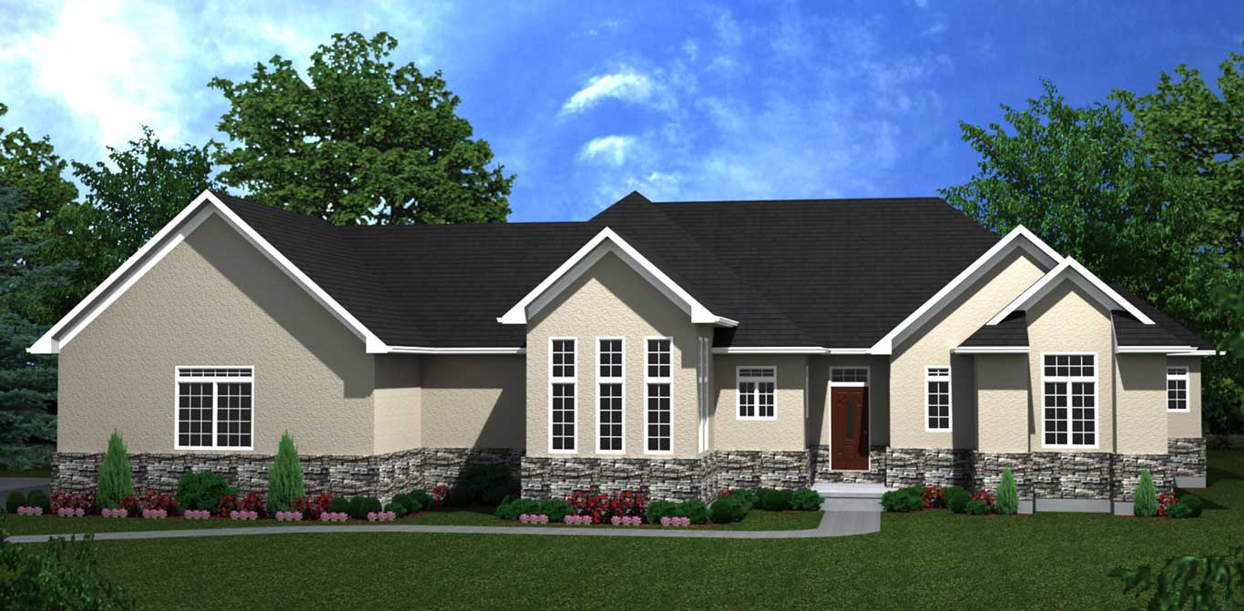 3332 sq.ft. timber mart 4 bed 4 bath house exterior rendering