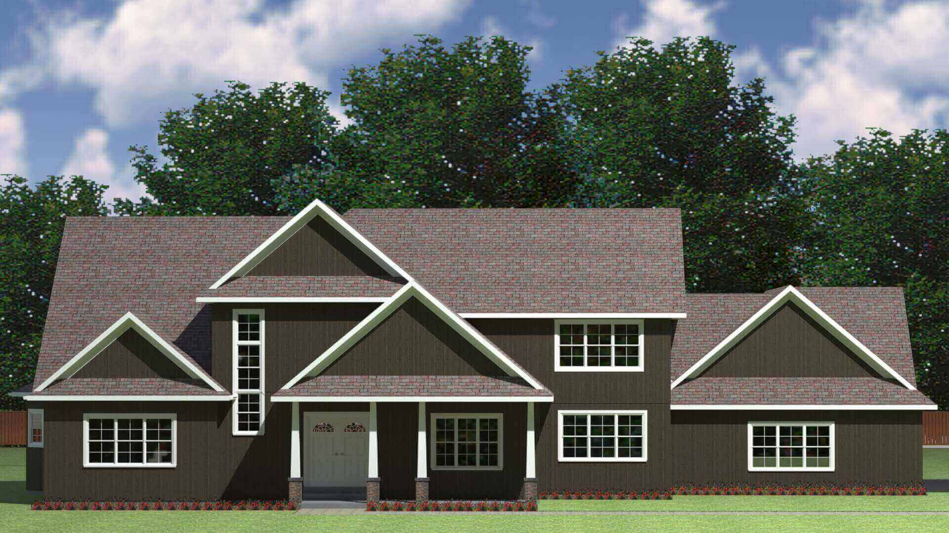 3484 sq.ft. timber mart house exterior rendering