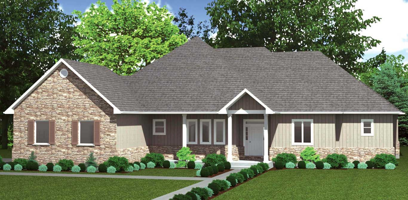 3519 sq.ft. timber mart house exterior rendering