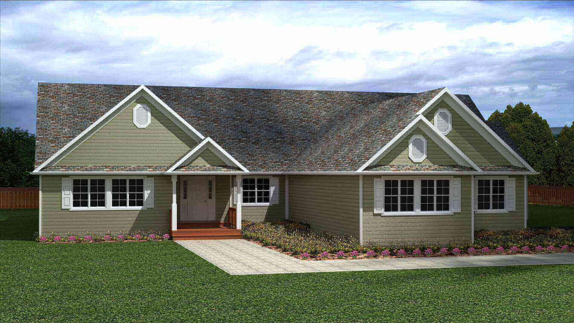 3817 sq.ft. timber mart house exterior rendering