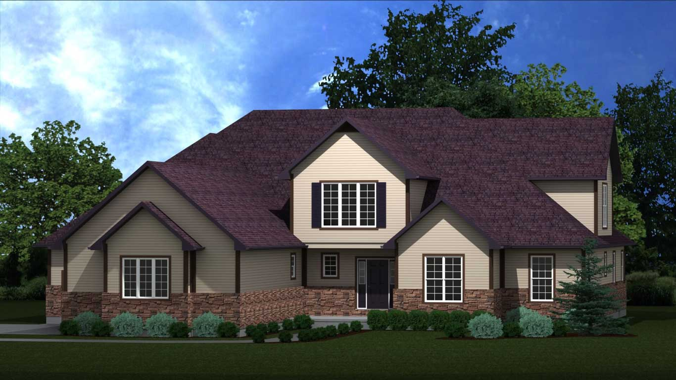 4206 sq.ft. timber mart house 4 bed 5 bath exterior render