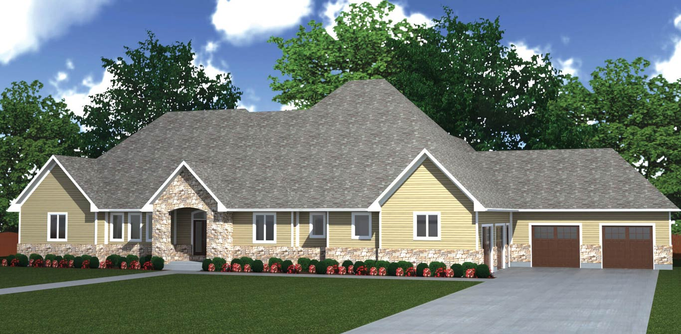 4514 sq.ft. timber mart house 3 bed 2.5 bath exterior render