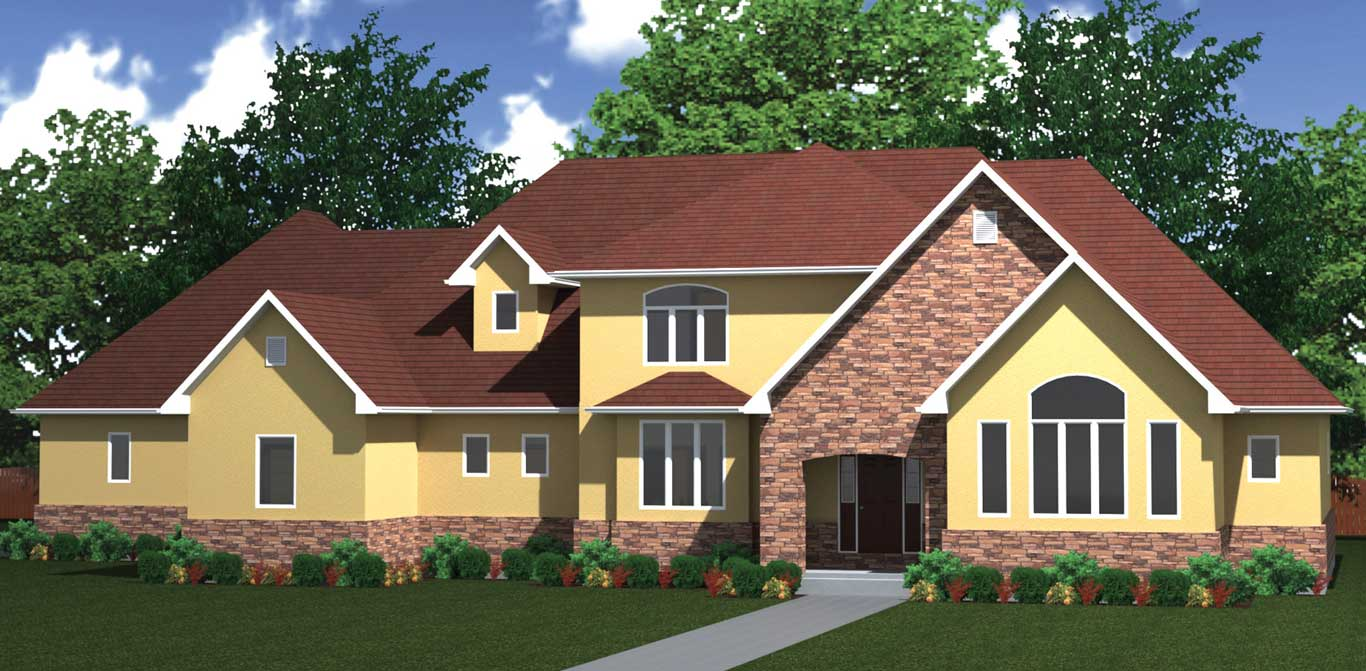 4840 sq.ft. timber mart house 5 bed 6 bath exterior render