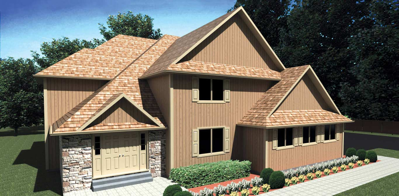 5017 sq.ft. timber mart house 5 bed 4.5 bath exterior render