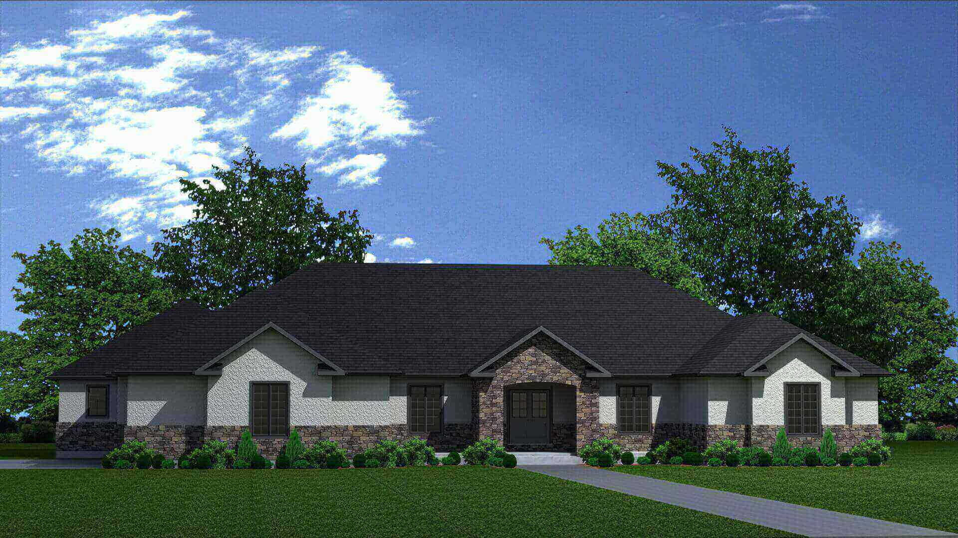 5082 sq.ft. timber mart house 3 bed 4 bath exterior render