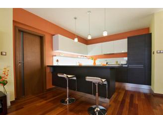 kitchen with wooden flooring