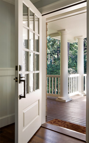 white glass front door