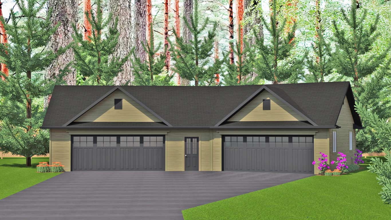 1453 sq.ft. timber mart 4 car garage