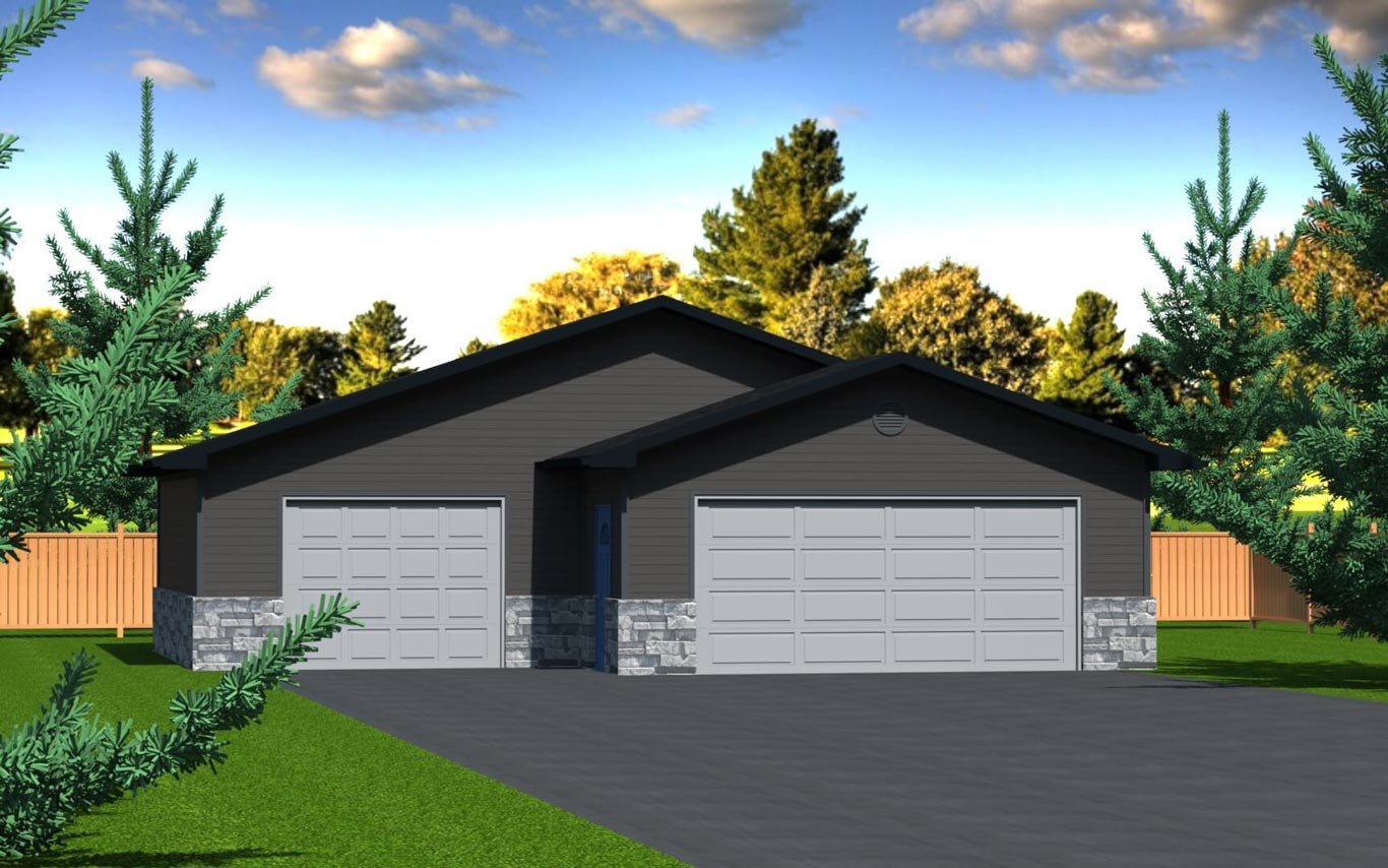 992 sq.ft. timber mart 3 car garage