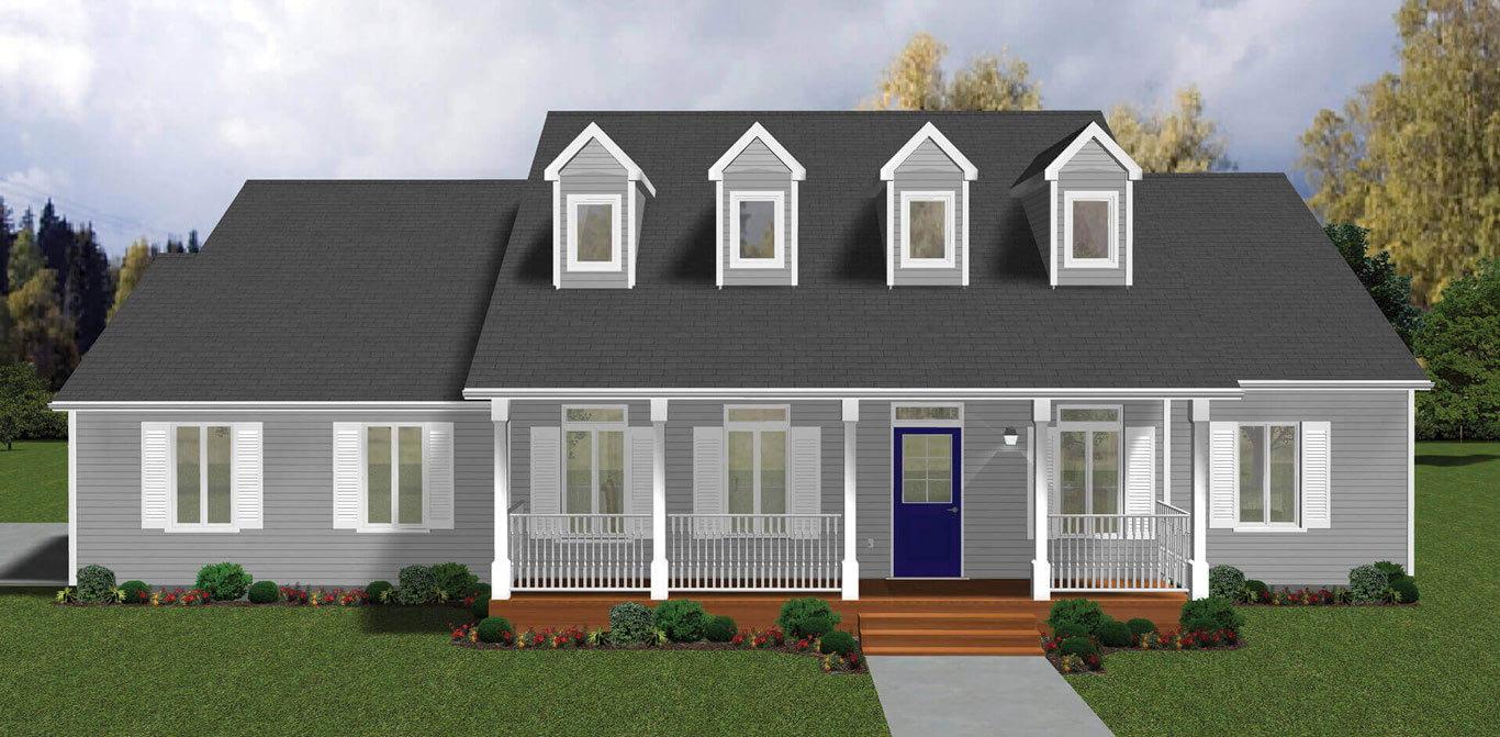 1999 sq.ft. timber mart house 3 bed 2.5 bath exterior render