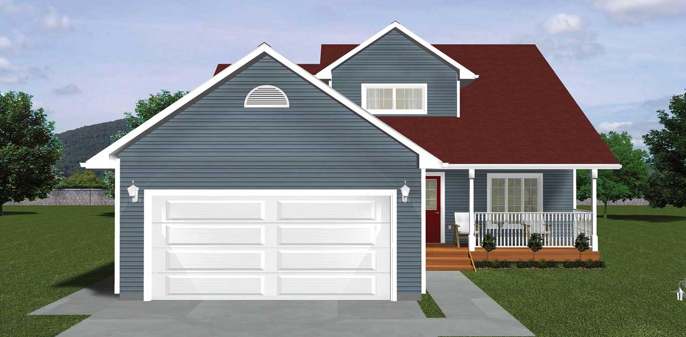2016 sq.ft. timber mart house 4 bed 2.5 bath exterior render