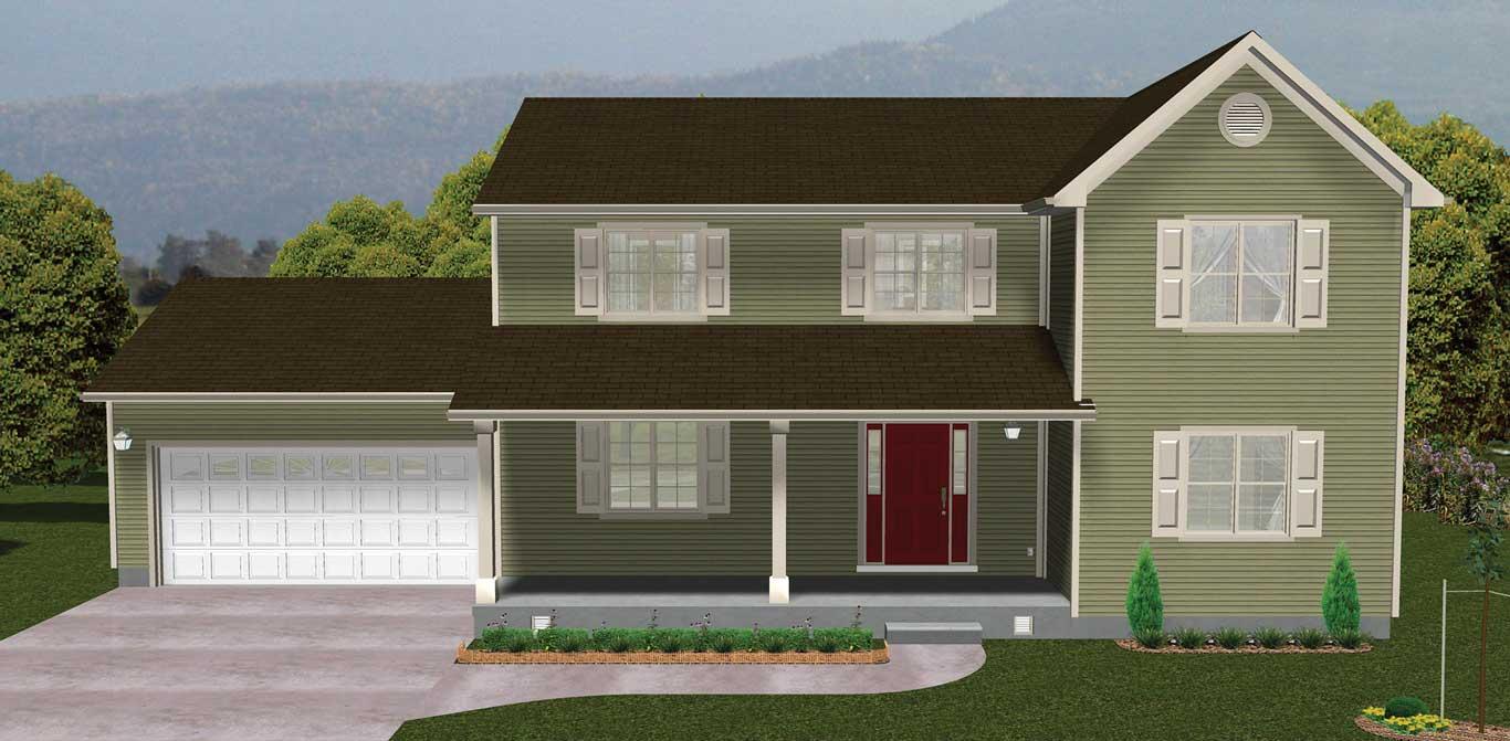 2320 sq.ft. timber mart house 3 bed 2.5 bath external render