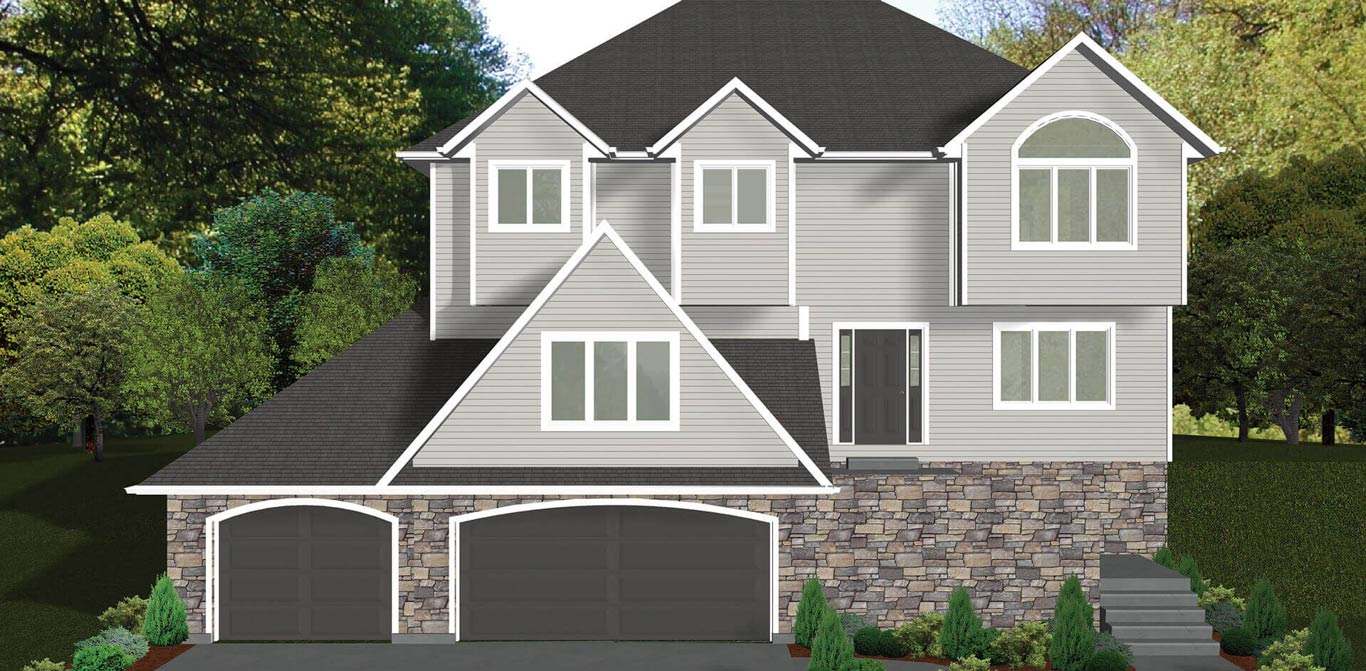 2541 sq.ft. timber mart house 4 bed 2.5 bath exterior render