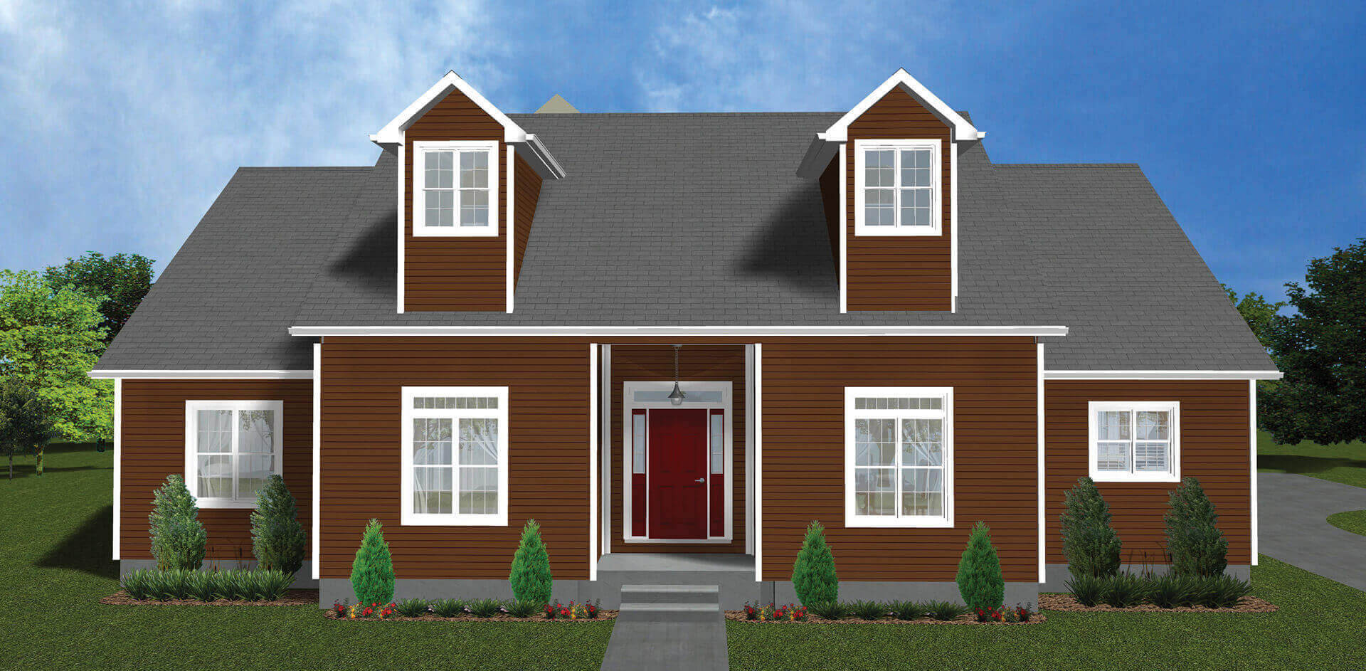 2740 sq.ft. timber mart house 3 bed 2.5 bath exterior render