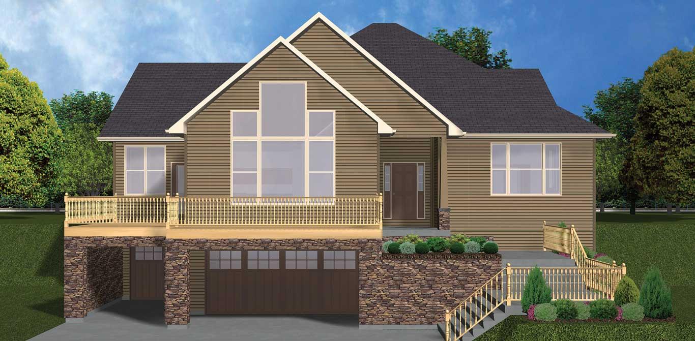 3182 sq.ft. timber mart house external render