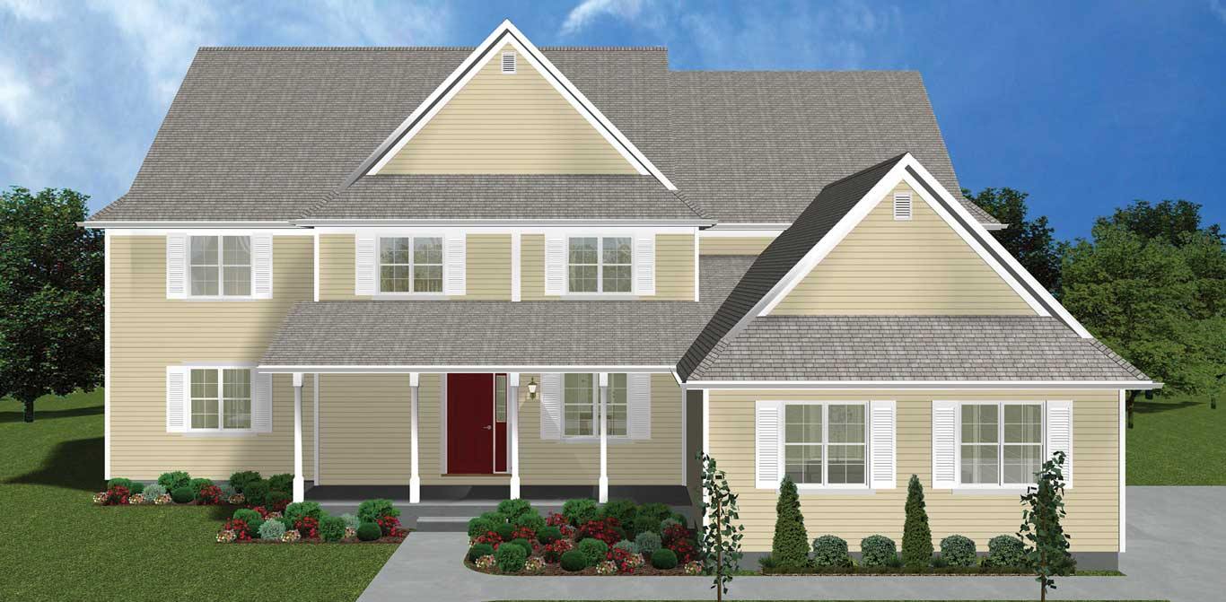 3402 sq.ft. timber mart house exterior rendering