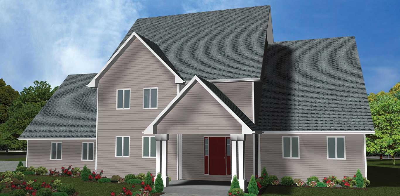 3402 sq.ft. timber mart house exterior render