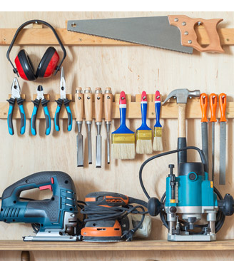 tools arranged neatly