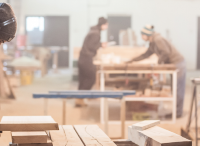 men working in workshop