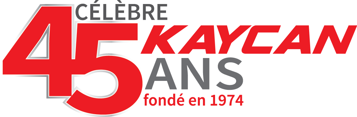 Kaycan logo 45 years french