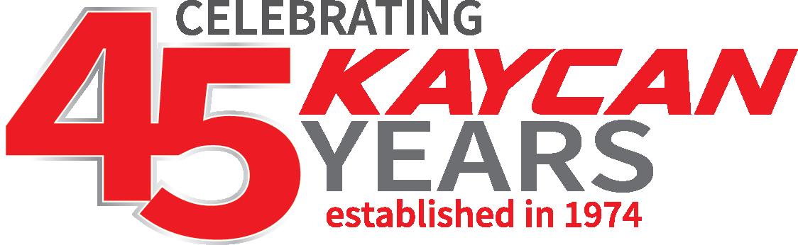 Kaycan logo 45 years