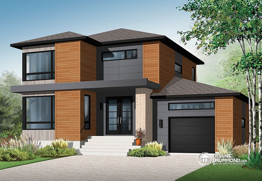 1852 sq.ft. timber mart modern style house