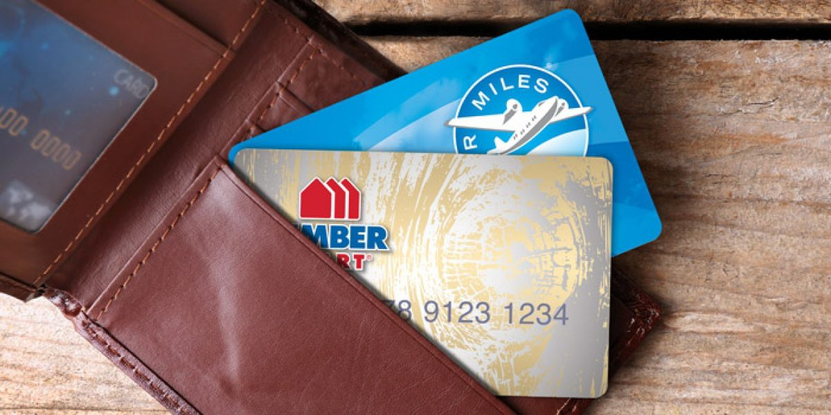 air miles and credit cards in wallet