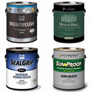 four paint cans