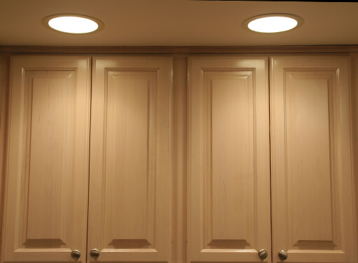 A picture of 2 recessed lighting examples