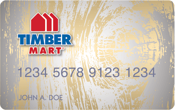 TIMBERMART credit card.